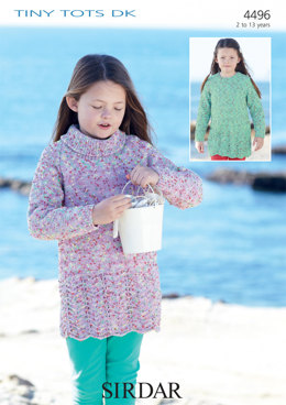 Dresses in Sirdar Snuggly Tiny Tots DK - 4496