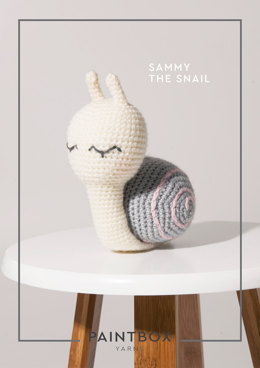"""Sammy the Snail"" - Amigurumi Crochet Pattern For Toys in Paintbox Yarns Simply DK - DK-CRO-TOY-006"