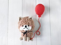 Hachiko the lucky puppy fuzzy amigurumi crochet pattern by amigurumei