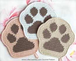 052 Paw decor, potholder, pillow Amigurumi Zabelina Ravelry