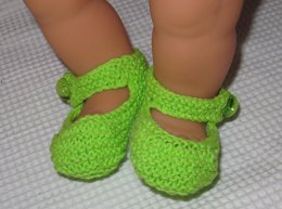 Baby High Back Garter Stitch Shoes