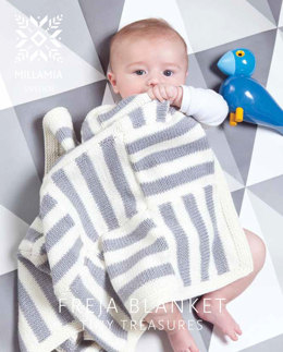 """Freja Blanket"" - Blanket Knitting Pattern For Babies in MillaMia Naturally Soft Aran"