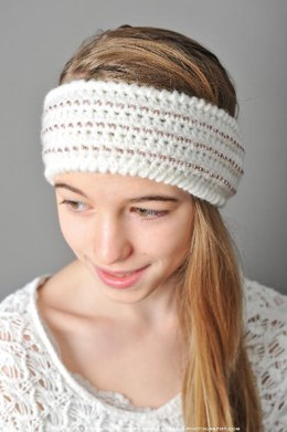 Beaded Headband Style Ear Warmer Crochet Pattern