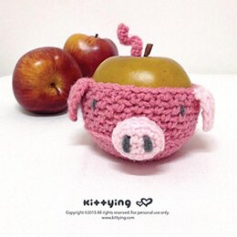 Piggy Fruit Cozy and Piggy Cup Cozy