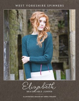 Elizabeth Braid Cable Jumper  in West Yorkshire Spinners Illustrious - DBP0026 - Downloadable PDF