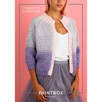 Confetti Cardigan - Free Cardigan Knitting Pattern : Cardigan Knitting Pattern in Paintbox Yarns DK Yarn