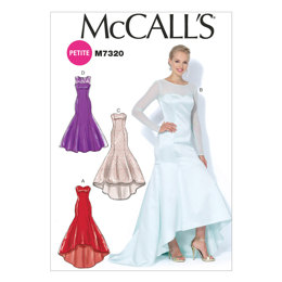 McCall's Misses'/Miss Petite Mermaid-Hem and High-Low Dresses M7320 - Sewing Pattern