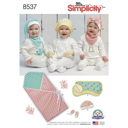 Simplicity Baby Accessories 8537 - Paper Pattern, Size OS (ONE SIZE)