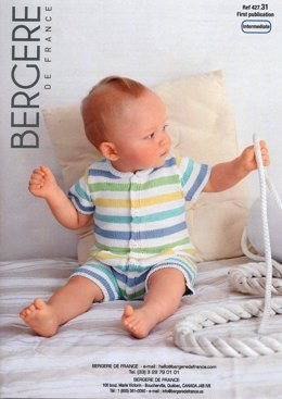Baby Combishort in Bergere de France Coton Fifty - 42731