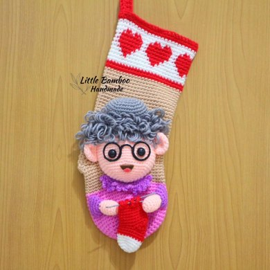 Personalised Grandma Christmas Stocking