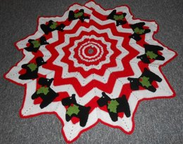 Christmas Scottie Tree Skirt