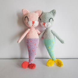 Mermaid cat doll