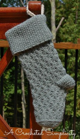 """Winter Waves"" Christmas Stocking"