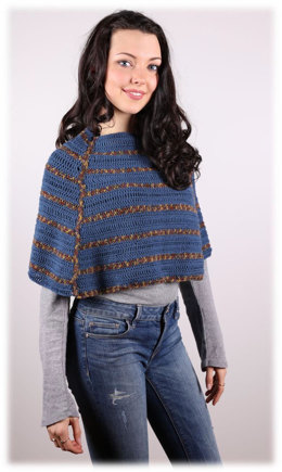 Crochet Adult Poncho in Plymouth Yarn Happy Feet 100 - 3016 - Downloadable PDF