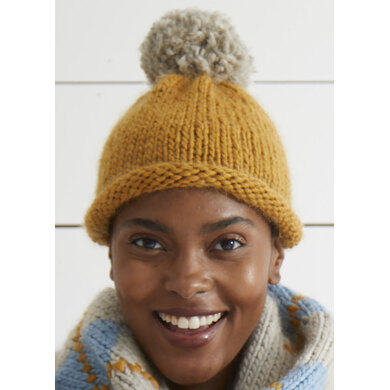 """Anya Hat Pattern"" - Free Hat Knitting Pattern For Women in Debbie Bliss Merion"