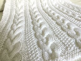 Braided Cable Baby Blanket