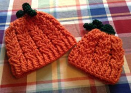 Cabled Pumpkin Head Hats