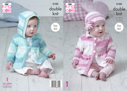 Coats & Hat in King Cole Cottonsoft Baby Crush DK - 5102 - Leaflet