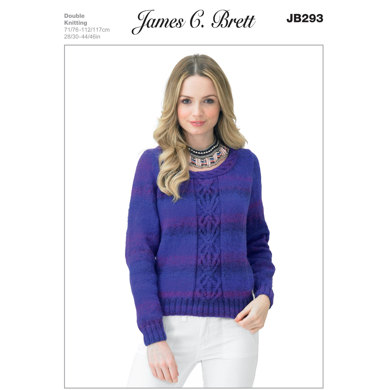Sweater in James C Brett Marble DK - JB293