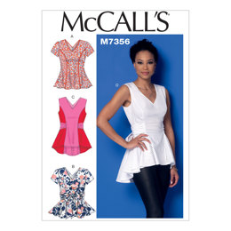 McCall's Misses' V-Neck Fit and Flare Tops M7356 - Sewing Pattern