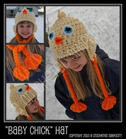 Baby Chick Earflap Hat