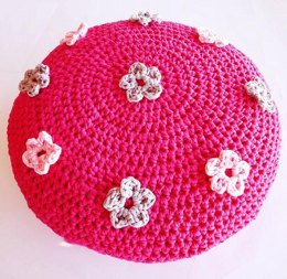 Large Flower Pouf