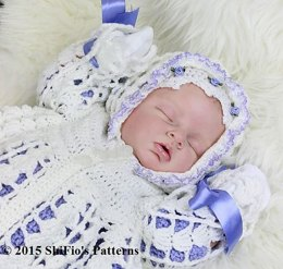 Lilac Hooded Baby Jacket Pattern #158