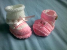 Mary Janes Sock top shoes and double front bar Sandals 0-3 mths