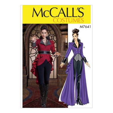 McCall's Misses' Jacket Costume with Belt M7641 - Sewing Pattern