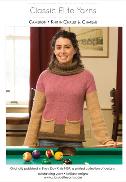 Cameron Pullover in Classic Elite Yarns Chalet and Chateau - Downloadable PDF