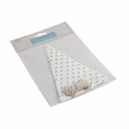 GrovesTrim Collection Make-Your-Own Bunting Kit: White with Blue SpotEmboideryKit