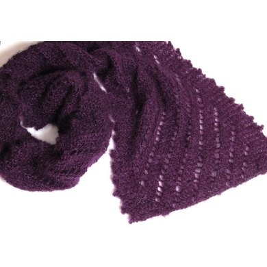 The Ridges - A Scarf with a Simple or Picot Fancy Edging