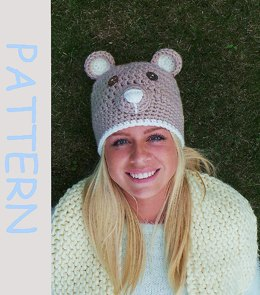 Crochet hat pattern ' Brown bear'