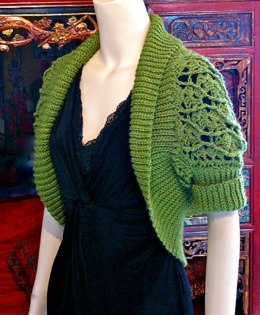 Eva Shrug with Slip Stitch Ribbing: Sizes Small &Med