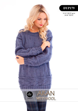 Jumper in DY Choice Aran With Wool - DYP179