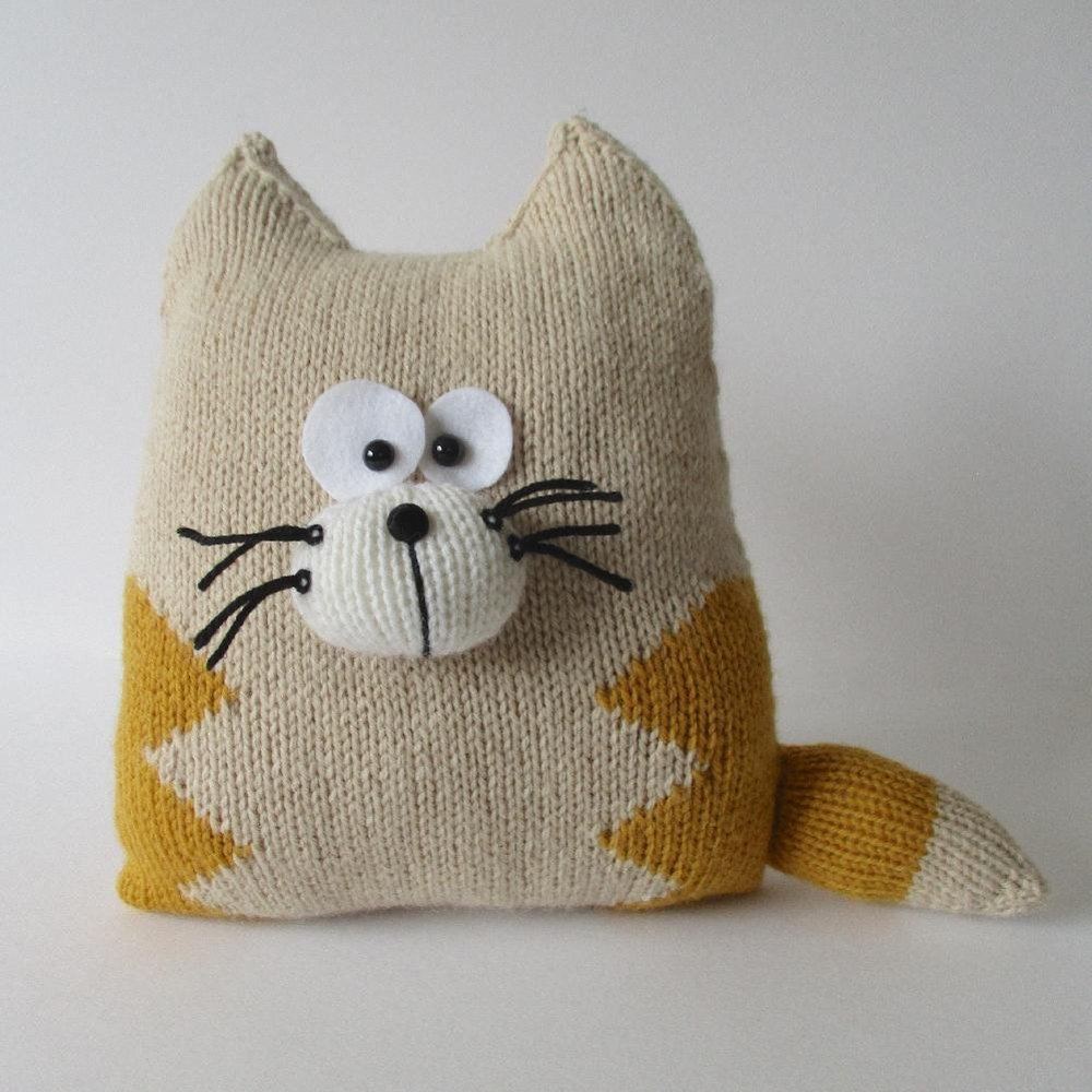 Cat Cushion Knitting Pattern By Amanda Berry Knitting