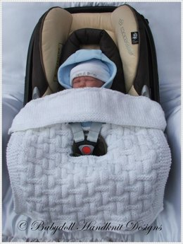 8 Patterns for Car Seat Blankets to fit standard 0-9m car seats