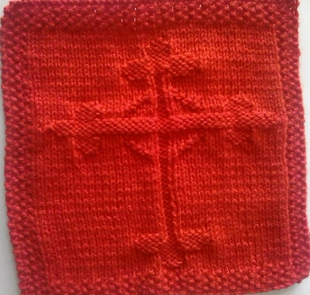 Gothic Cross Knitted Dishcloth Pattern Knitting pattern by ...