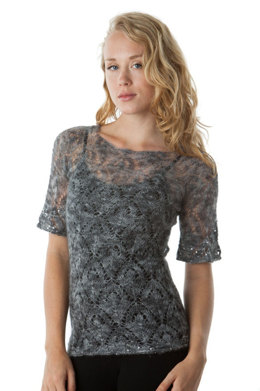Top-Down Sheer Sweater in Artyarns Beaded Mohair and Sequins - I206