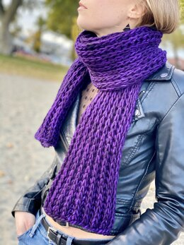 """Easy/Beginner Scarf """"For The Love of Brioche"""""""