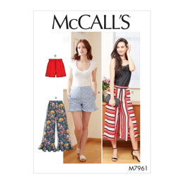 McCall's Misses' Shorts and Pants M7961 - Sewing Pattern