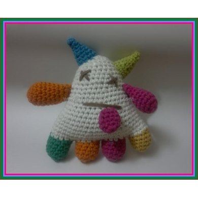 Crochet Rainbow Monster Amigurumi Alien Plushie Doll For Babies