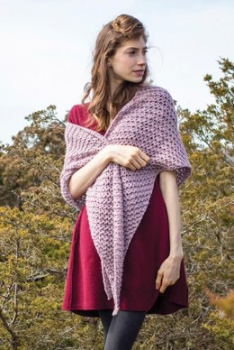 Trout Lily Shawl in Berroco Tuscan Tweed - 380-4 - Downloadable PDF