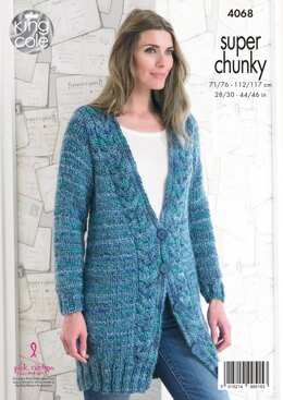 Jacket and Sweater in King Cole Super Chunky - 4068