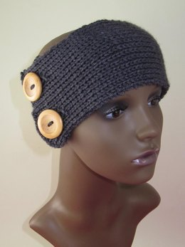 2 Button All Rib Headband