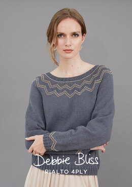Billie Jumper - Knitting Pattern For Women in Debbie Bliss Rialto 4 Ply