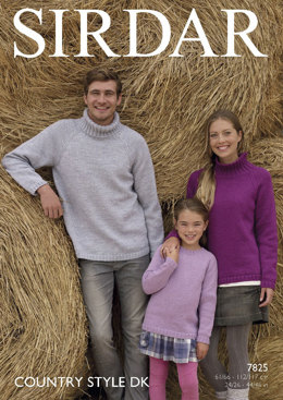 Sweaters in Sirdar Country Style DK - 7825- Downloadable PDF