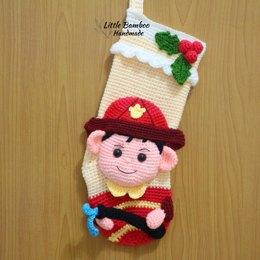 Fireman Christmas Stocking