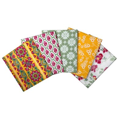 Visage Textiles Grand Palace Fat Quarter Bundle - Yellow