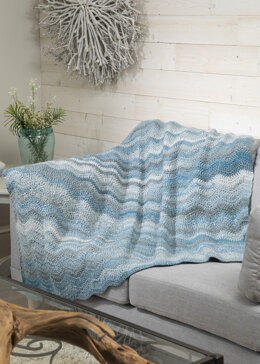 Radiant Ripple Afghan Throw in Premier Yarns Puzzle - Downloadable PDF
